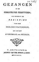 Image from object titled Gezangen op de christelyke feesttijden; als mede bij de bediening van den heiligen waterdoop en van het avondmaal des Heeren