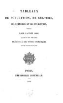 Image from object titled Tableaux de population, de culture, de commerce et de navigation, formant, pour l'année 1864, la suite des tableaux insérés dans les notices statistiques sur les colonies Françaises