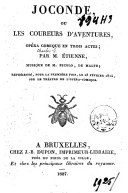 Image from object titled Joconde, ou Les coureurs d'aventures opéra-comique en trois actes