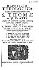 Image from object titled Repetitio Theologica in moralem primae secundae partis S. Thomae Aquinatis ... praeside F. Domenico Evrard, defendent, F. Franciscus van Peteghem, F. Hyacinthus Michel, F. Petrus van Kessel..