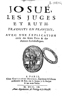 Image from object titled Josué les juges et ruth