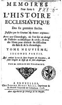 Image from object titled Mémoires pour servir à l'histoire ecclésiastique des six premiers siècles. Justifiez par les citations des auteurs originaux ...