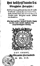 Image from object titled Het beschrijf vande ses vleughelen Seraphin