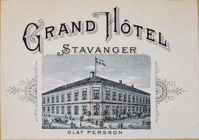 Image from object titled Grand Hôtel Stavanger, Olaf Persson