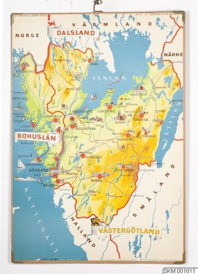 Karta World.Karta Plansch Skolplansch Svenska Landskap Bohuslan Dalsland