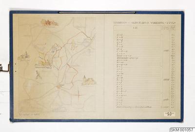 karta, skolplansch, plansch, Vandrings- och skidvägarnas markering och längd