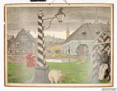 plansch, skolplansch, Rysk stad under Nikolaj I tid