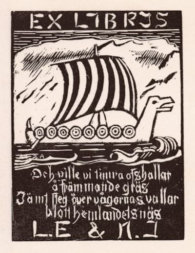 Image from object titled exlibris, bokägarmärke