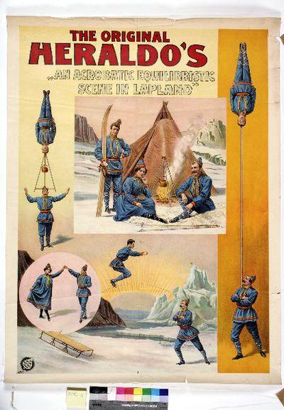 affisch, bildaffisch, cirkusaffisch, The Original Heraldo´s