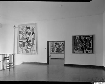 Image from object titled målning, rum, legér, målningar, utställningar, utställning, tavlor, museer, trappor, trappa, museum, konst, tavla, konstutställning