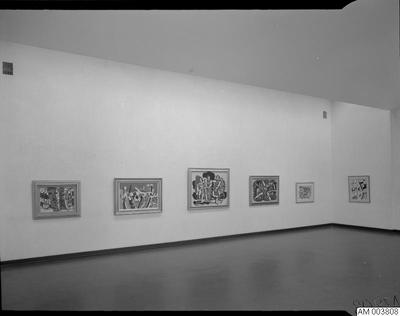 Image from object titled konst, museer, tavla, målningar, målning, legér, rum, utställning, tavlor, museum, konstutställning, utställningar