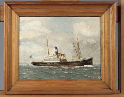 fartygsporträtt, bogserbåt, MERCUR