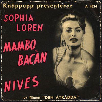 fonogram, grammofonskiva, singel, Mambo Bacàn