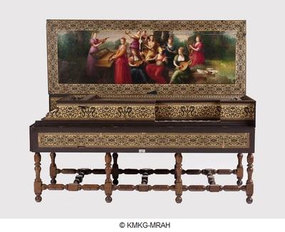 Image from object titled Clavecin à double clavier combiné à un virginal
