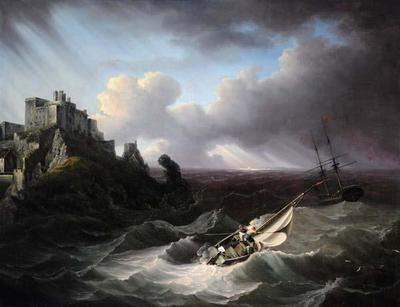 Man O' War off Mont Orgueil Castle