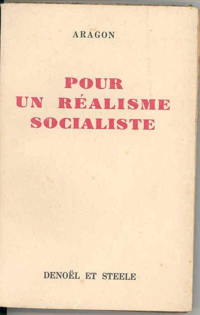 Pour un Realisme Socialiste