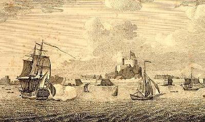 View of Elizabeth Castle in the Island of Jersey
