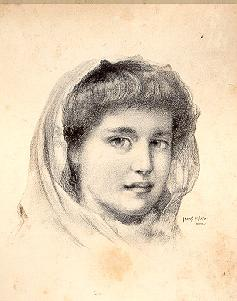 Young woman with head scarf (untitled)