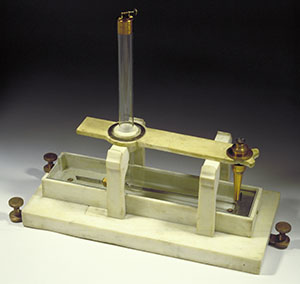Image from object titled Coulomb magnetic declination compass (Inv. 918)