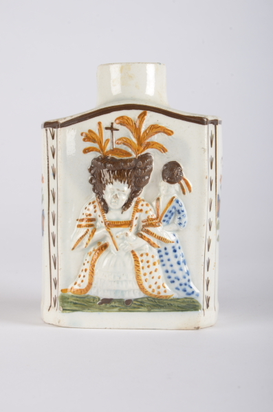 Image from object titled Prattware tea canister