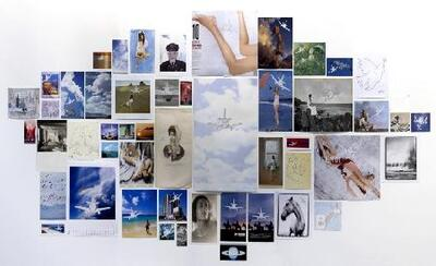 Plane Landing, Collages (Composition #3) - Fotografía