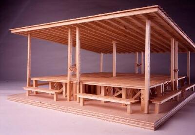 Maqueta de la Mesa de picnic para Huesca - Maqueta