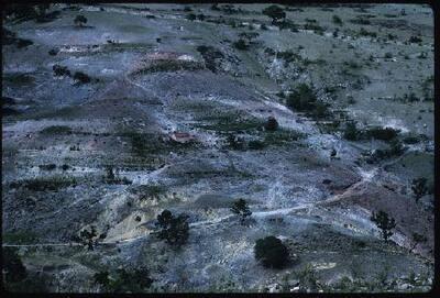Erosión en la montaña - Fotografía