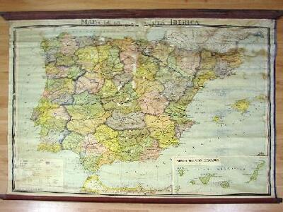 Mapa físico de la Península Ibérica - Mapa | Doporto Marchori, Luis on