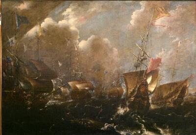 Batalla de Guetaria - Cuadro