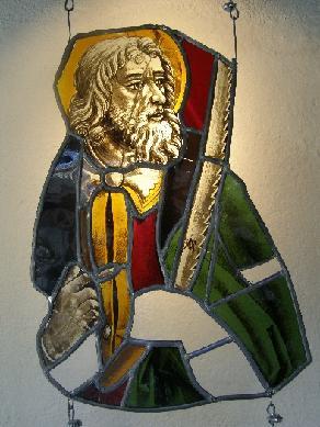 Vidriera del rosetón de San Pedro - Vidriera