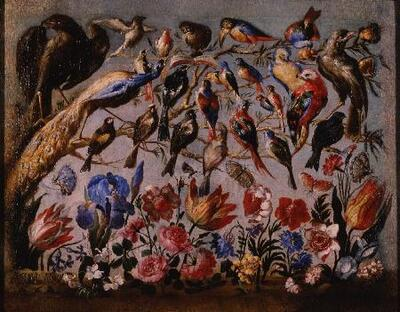 Concierto de aves y flores - Cuadro