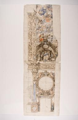 Boceto para la decoración de una iglesia (anv.) - Dibujo