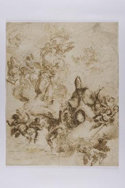 Apoteosis de un santo obispo - Dibujo