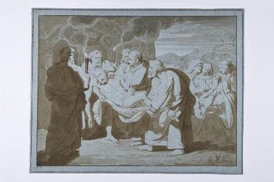 Entierro de Cristo - Dibujo