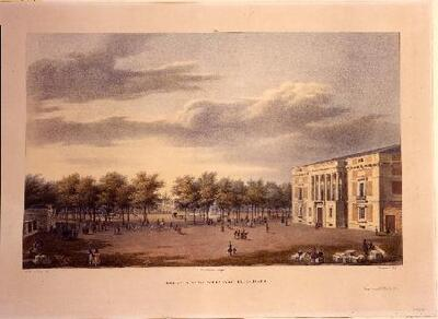 Vista del Real Museo - Litografía