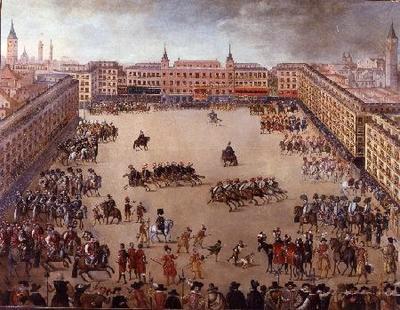 Fiesta Real en la Plaza Mayor - Pintura