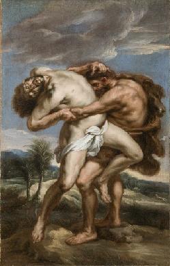 Hércules luchando con el gigante Anteón - Cuadro