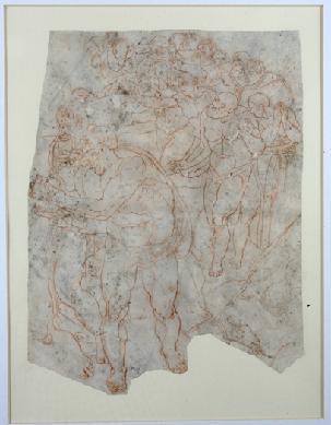 Fragmento del Juicio Final (copia). - Dibujo