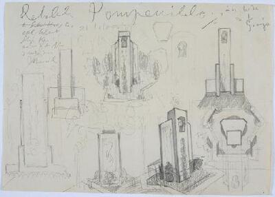 Proyecto de monumento a Silvio Kossti - Dibujo