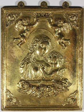 Virgen con Niño - Placa