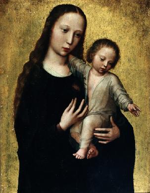 La Virgen con el Niño de la camisa - Cuadro