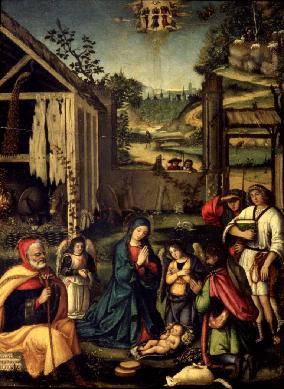 La Adoración de los pastores - Cuadro