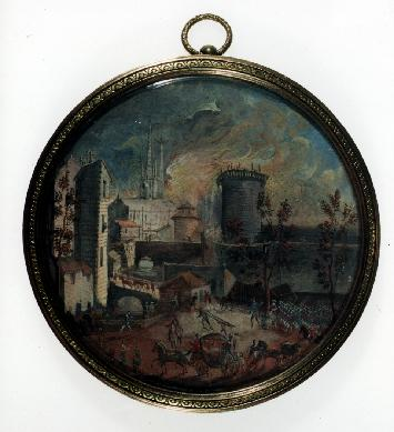El incendio de la Bastilla - Miniatura