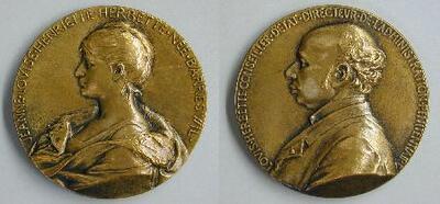 Medalla conmemorativa de Louis Herbette y su esposa Jeanne Louise Henriette - Medalla