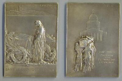Medalla conmemorativa de la muerte del presidente francés Marie François Sadi Carnot - Placa