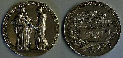 La beneficiencia, asistencia pública francesa - Medalla