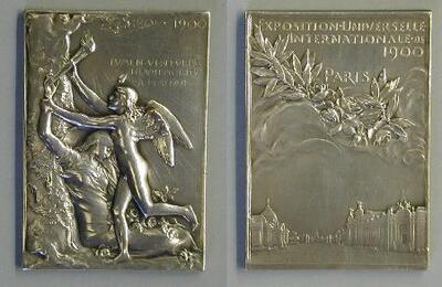 Exposición Universal de París 1900 - Placa