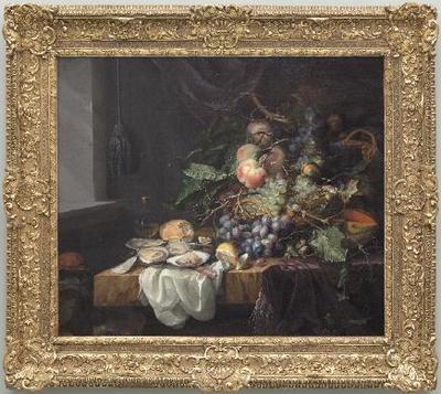 Bodegón con frutas y ostras - Cuadro
