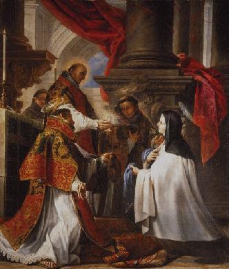 La comunión de Santa Teresa - Cuadro