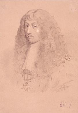 Retrato de Luis II de Borbón-Condé - Dibujo